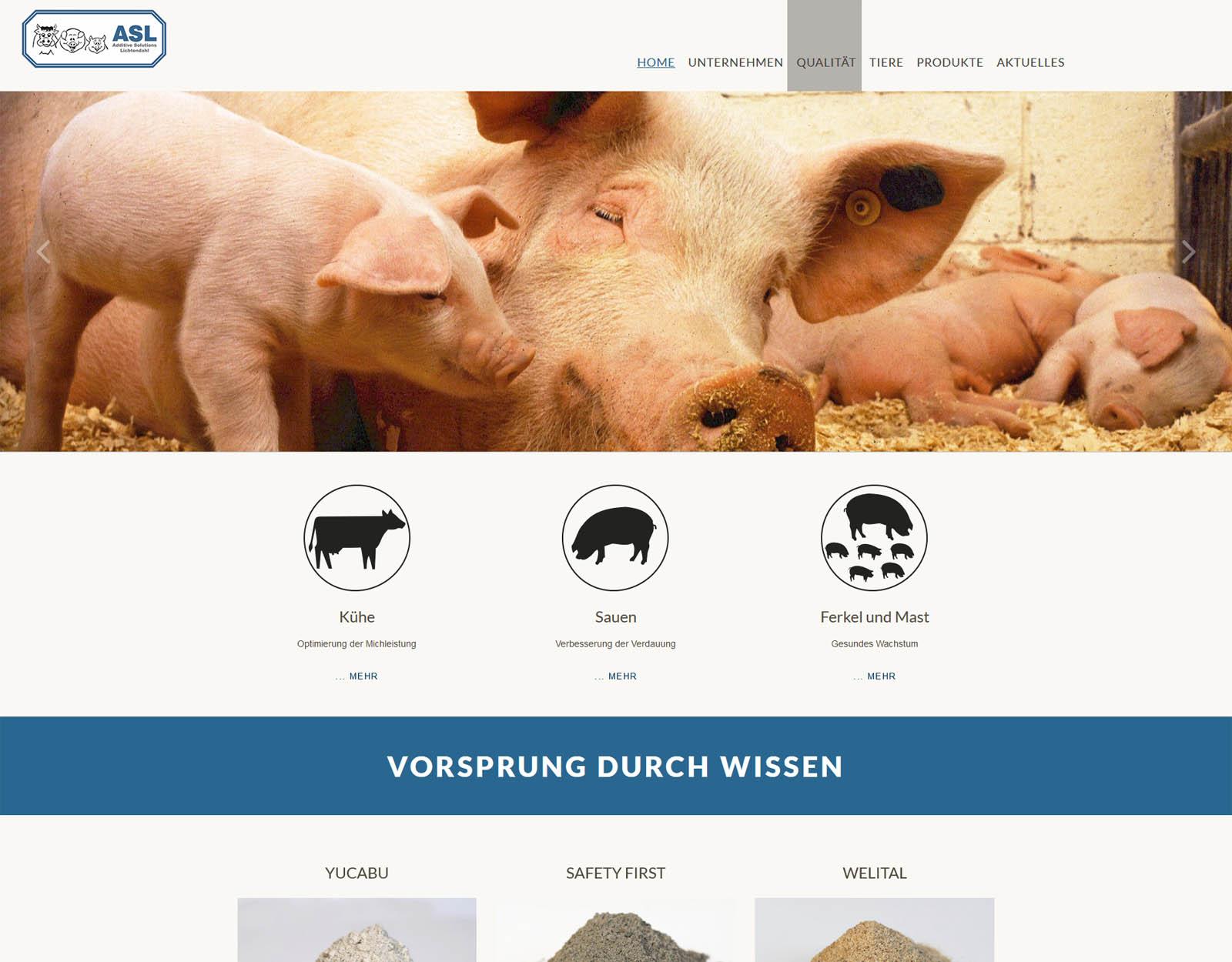 Home der website ASL GmbH & Co. KG