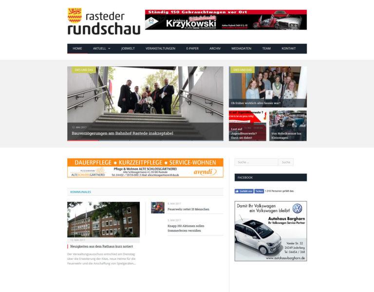 Startseite Online-Zeitung Rasteder Rundschau