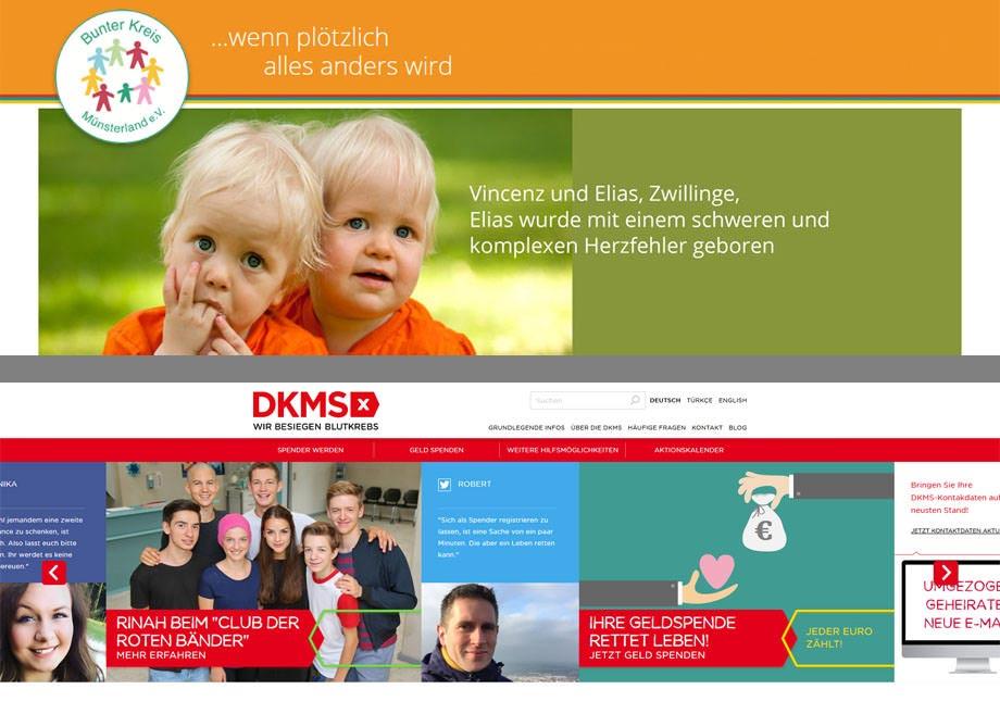 Logos von Bunter Kreis und DKMS
