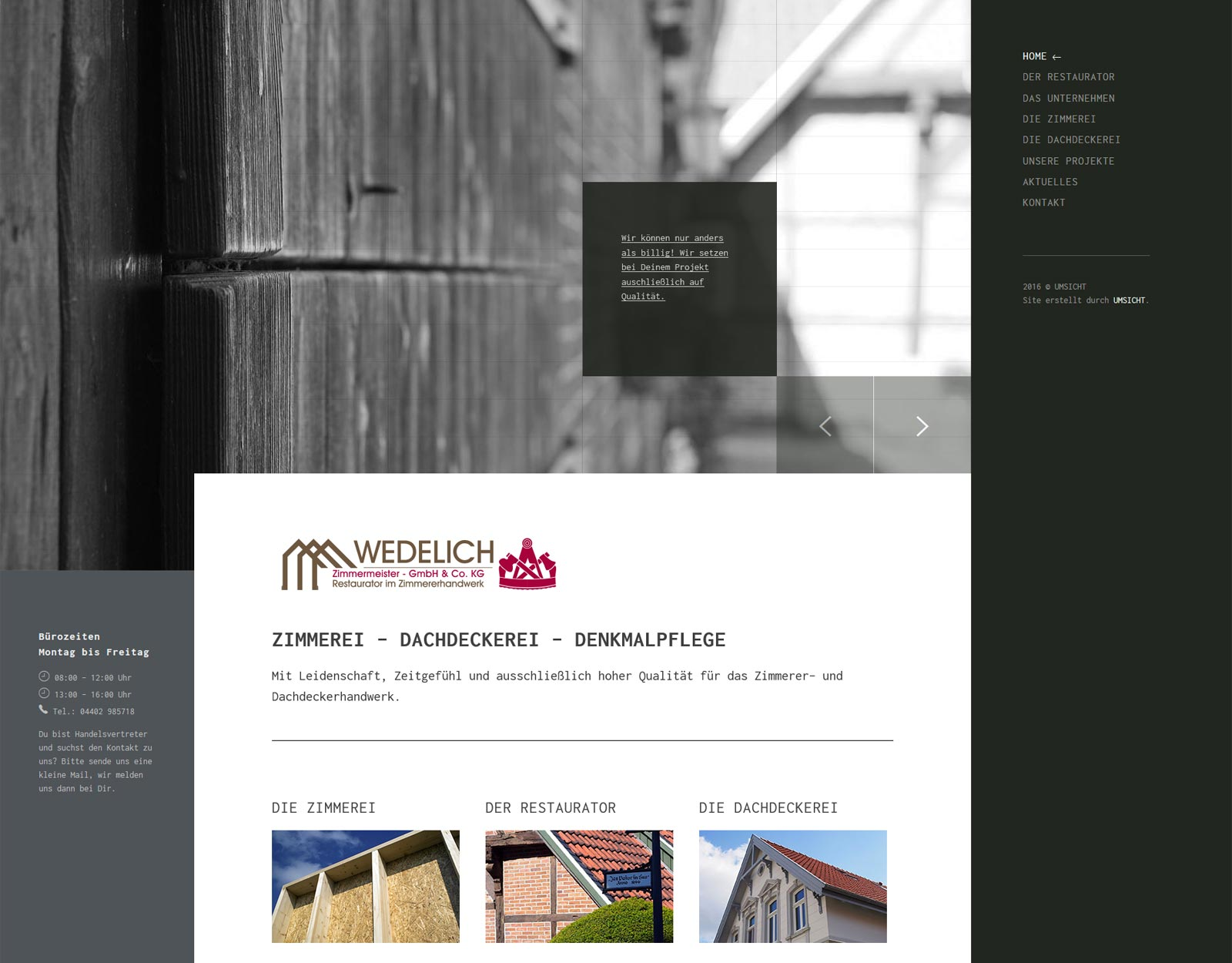 Wedelich Zimmerei Holzbau Denkmalpflege