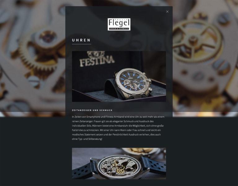 Eduard Flegel - Website - Seite Uhren