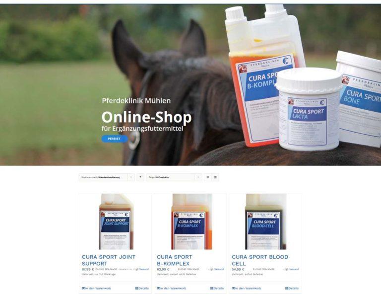Produkte im Online-Shop