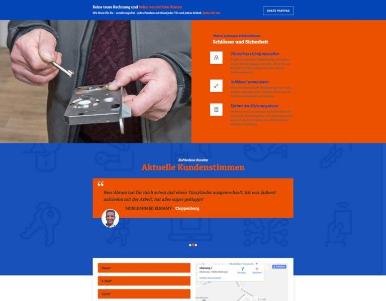 Webseite für Schlüsseldienst Abram in Cloppenburg