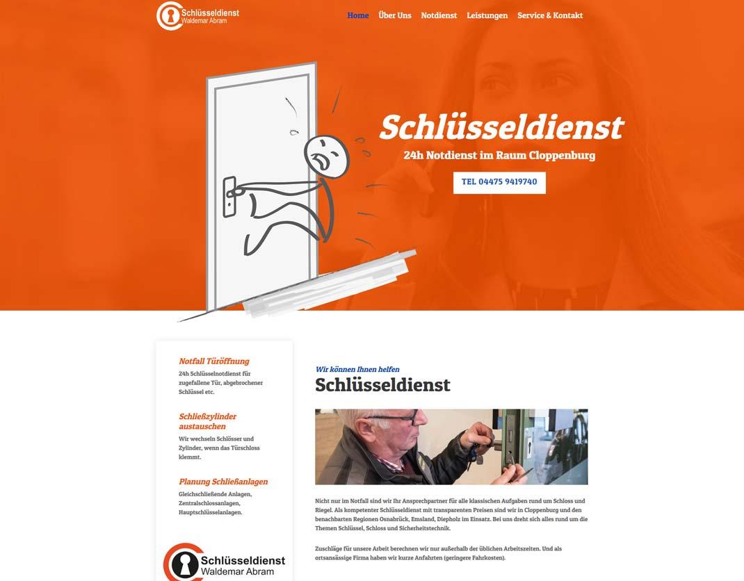 Website für Schlüsseldienst in Cloppenburg