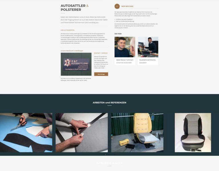 Website für Autosattlerei in Molbergen