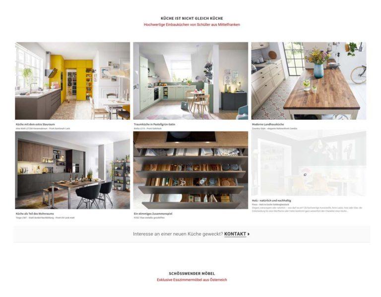 Website für Küchenstudio