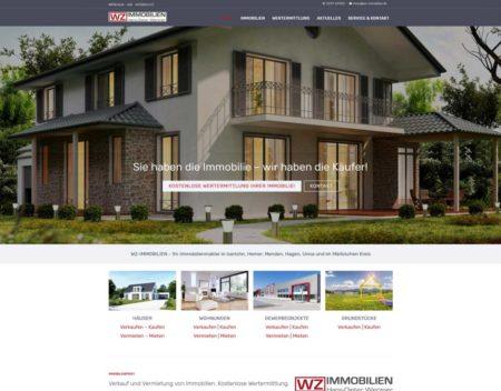Website WZ Immobilien Iserlohn